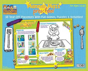 Blunders Preschool Manner Mats for kids ages 3 to 6 years.