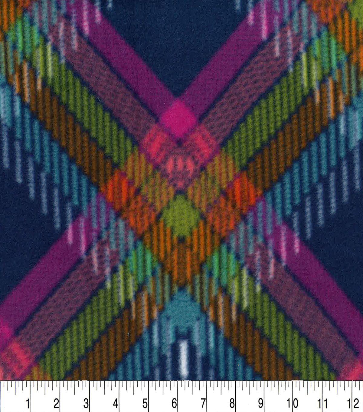 "Anti-Pill Fleece Fabric 59""-Madeline Plaid"