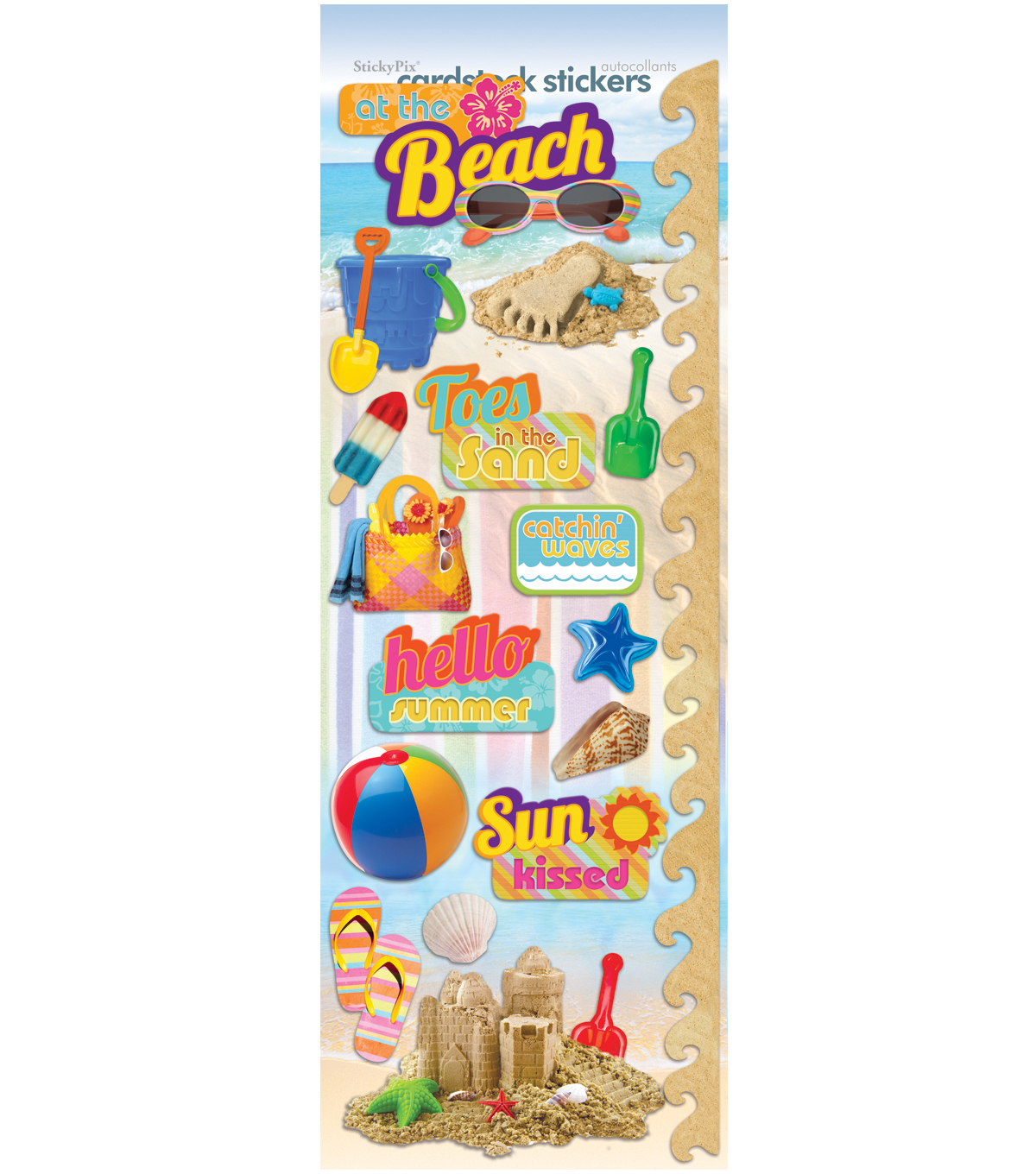 Fun Beach Cardstock Stickers