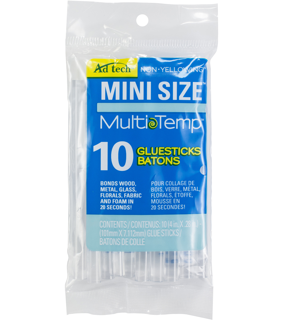 Adhesive Technologies Multi Temp Mini Glue Sticks-4\u0022X.28\u0022 10Pk