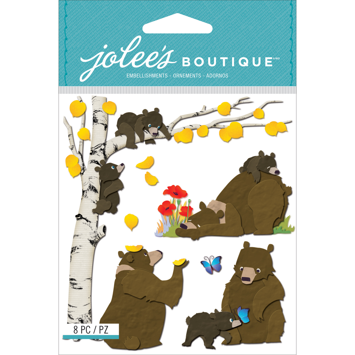 Jolee\u0027s Boutique Dimensional Stickers Bear Family