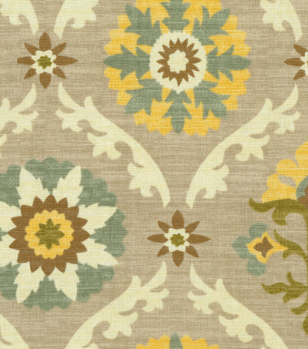 Home Decor 8\u0022x8\u0022 Fabric Swatch-Waverly Mayan Medallion Pebble