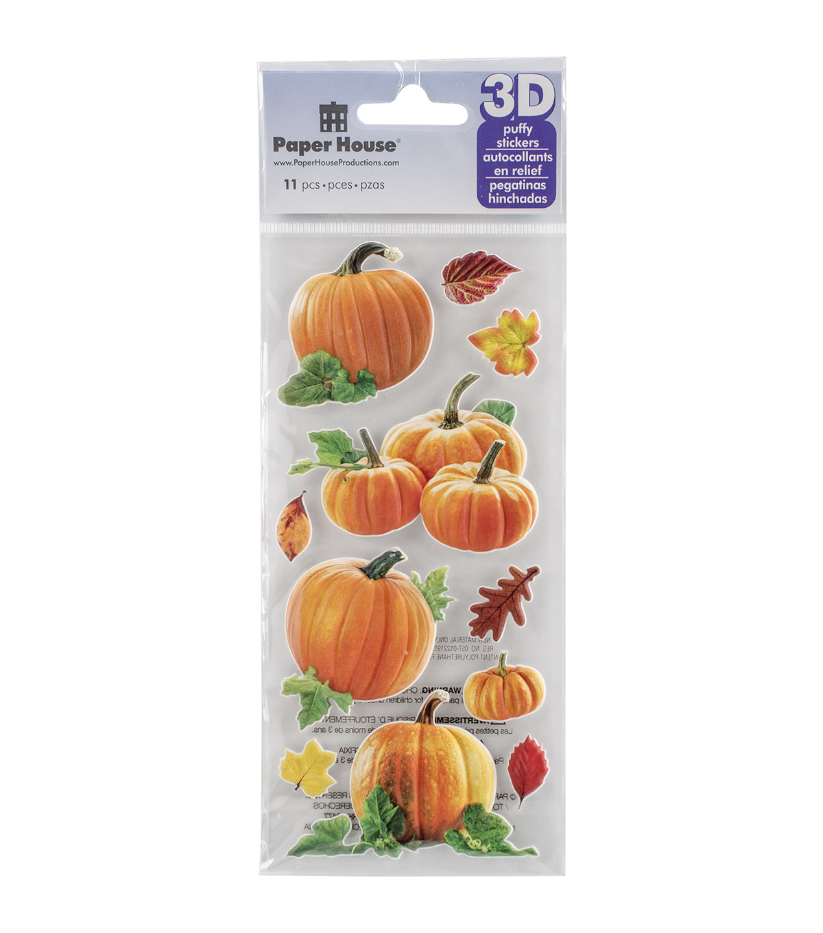Paper House® Puffy Stickers-Pumpkins