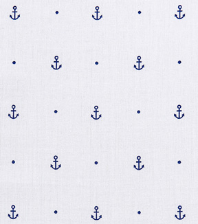 Cotton Shirting Fabric 57\u0022-Dotted Anchor