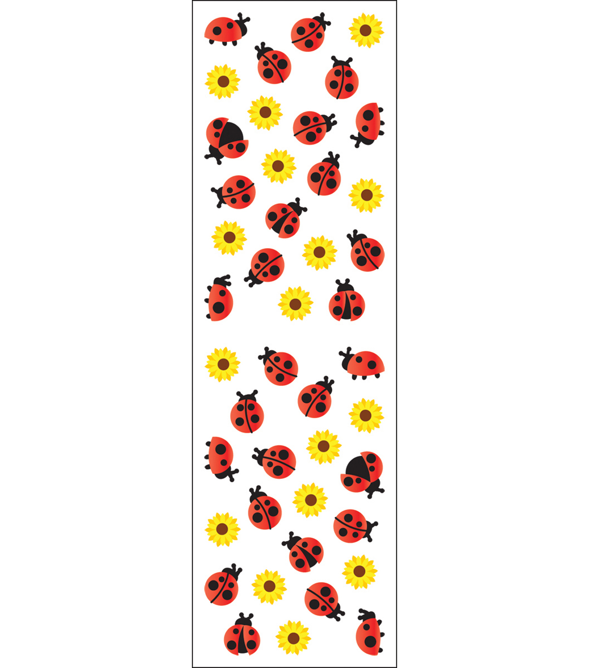 Mrs. Grossman's Stickers-Ladybugs & Flowers
