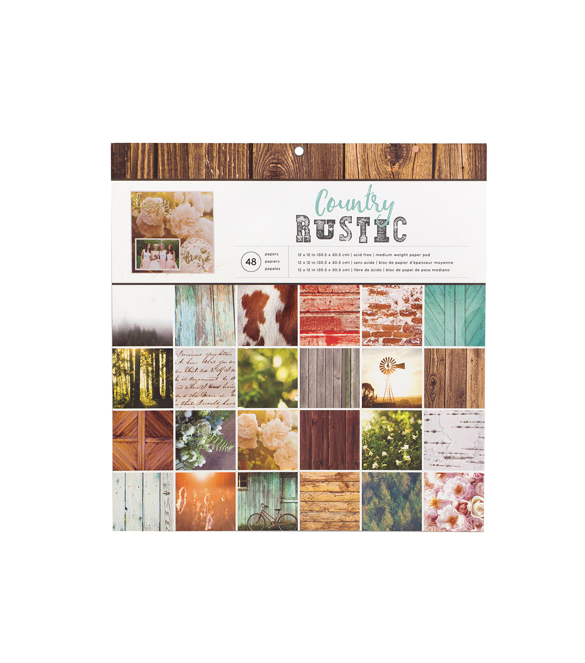 American Crafts™ Photo Real 12''x12'' Paper Pad-Country Rustic