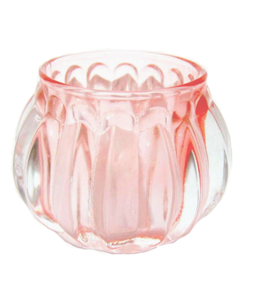 Save The Date™ Pack of 12 Glass Candle Holders-Pink