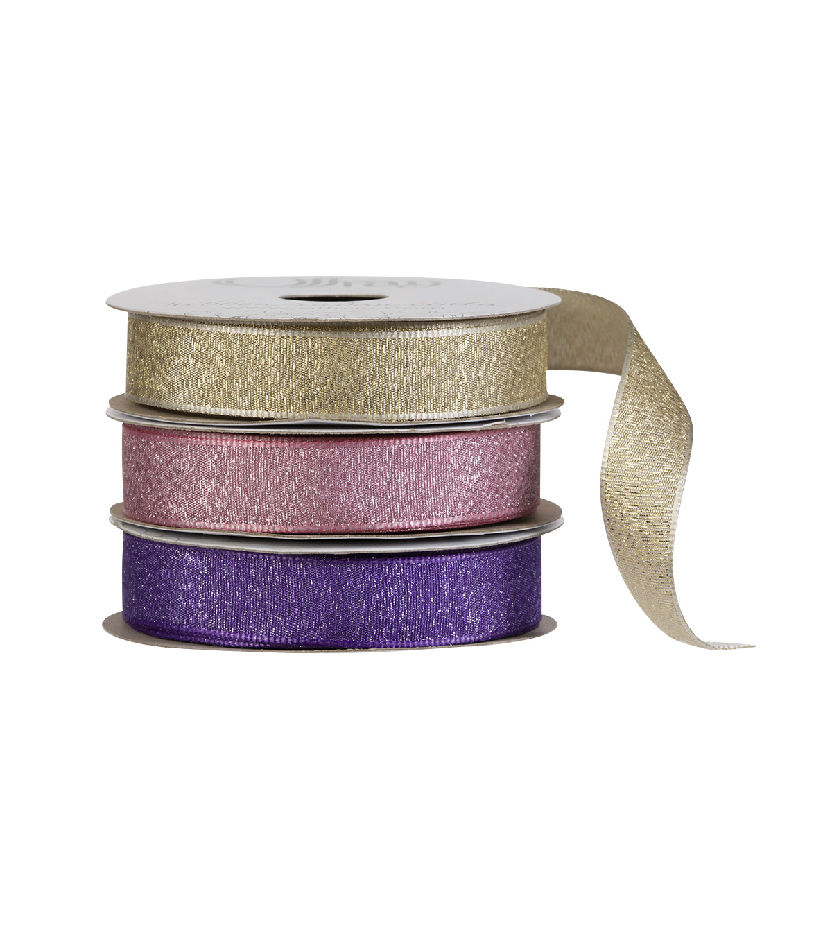 "Offray 5/8""x9' Luxe Metallic Woven Wired Edge Ribbon"