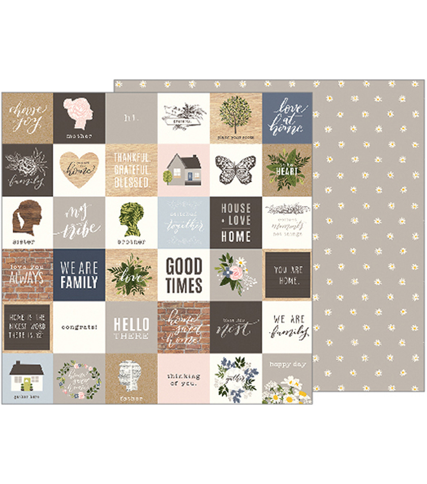 "Jen Hadfield Heart Of Home Double-Sided Cardstock 12""X12""-Love At Home"