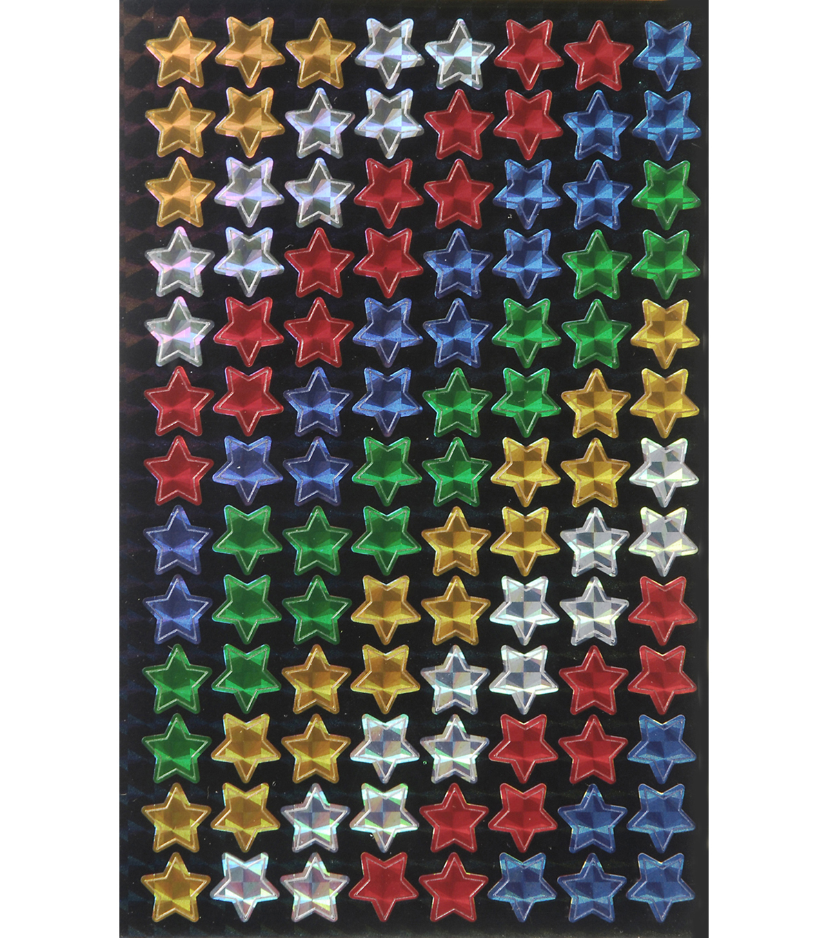 Busy Kids Learning Holographic Incentive Sticker Packs-Multi Star