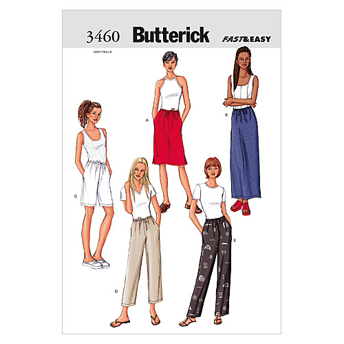 Butterick Misses Pants-B3460