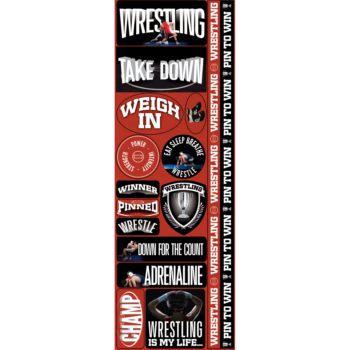 Wrestl Com-real Sport Stickers
