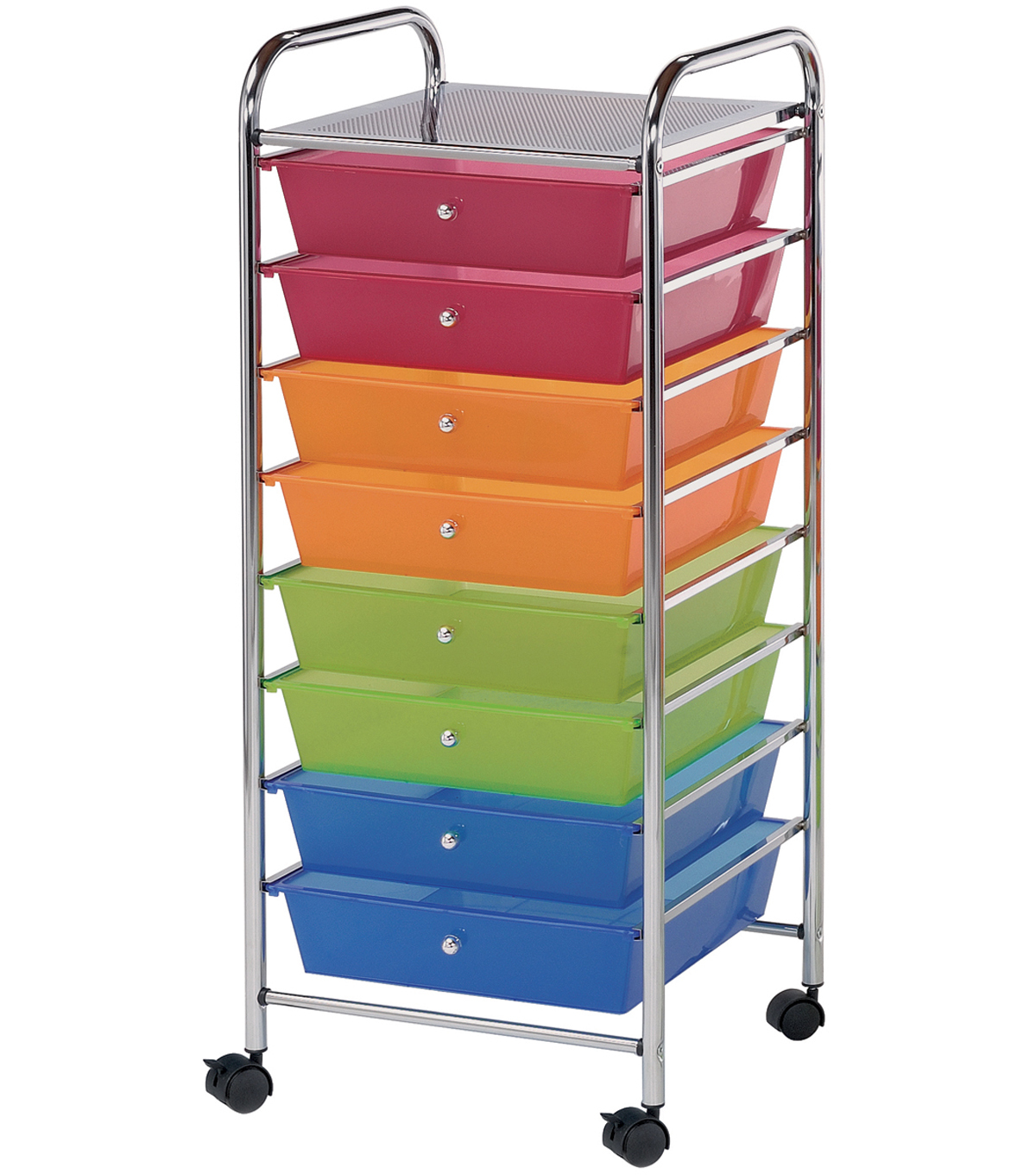 Storage Cart With 8 Drawers Multi 16 25 U0022x14 5 U0022x39 75