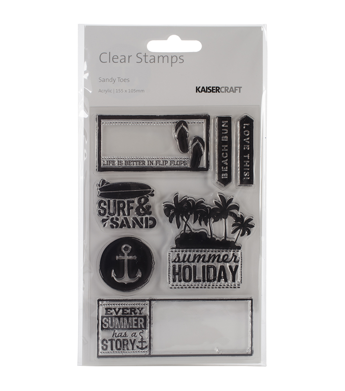 Kaisercraft Sandy Toes Clear Stamps 6.25''x4''
