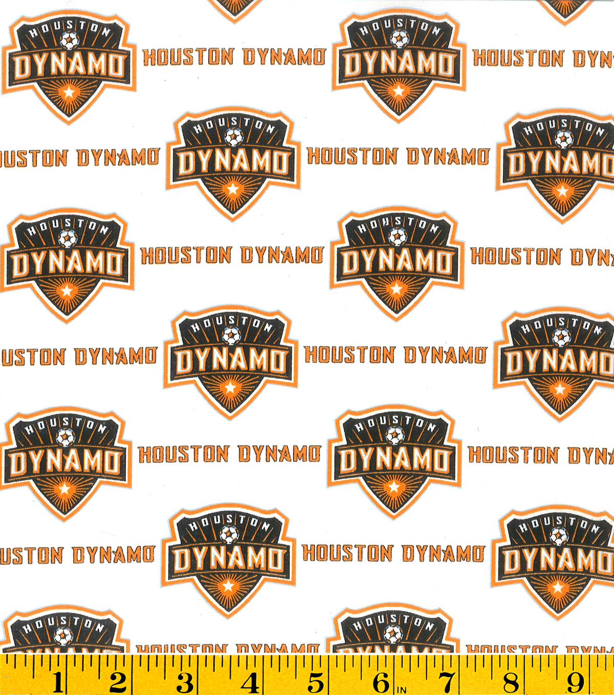 "Houston Dynamo Cotton Fabric 58""-Logo"