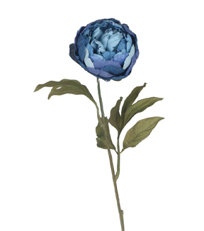 Bloom Room 28'' Burlap Peony Stem-Blue