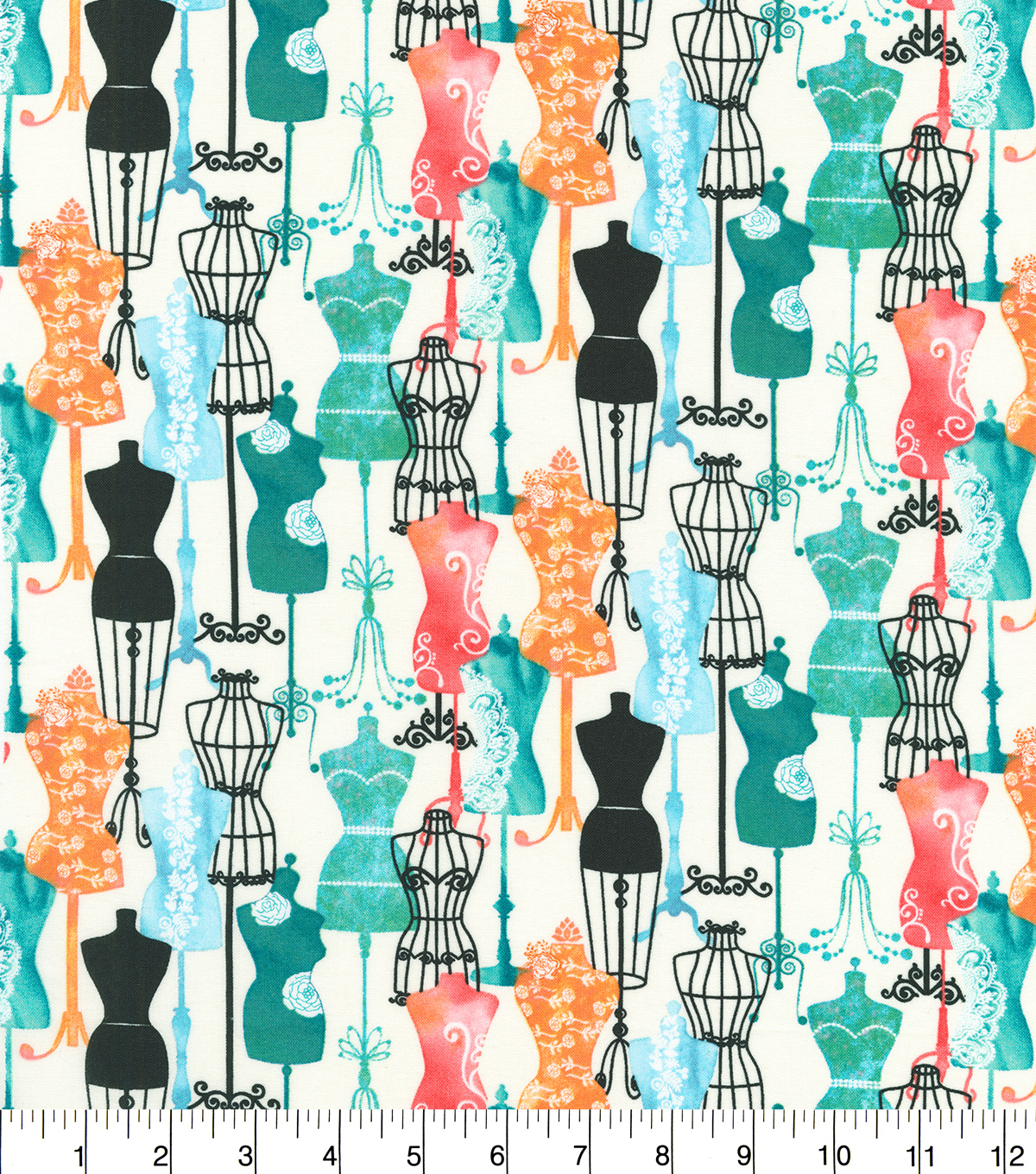 Novelty Cotton Fabric 44''-Dress Forms