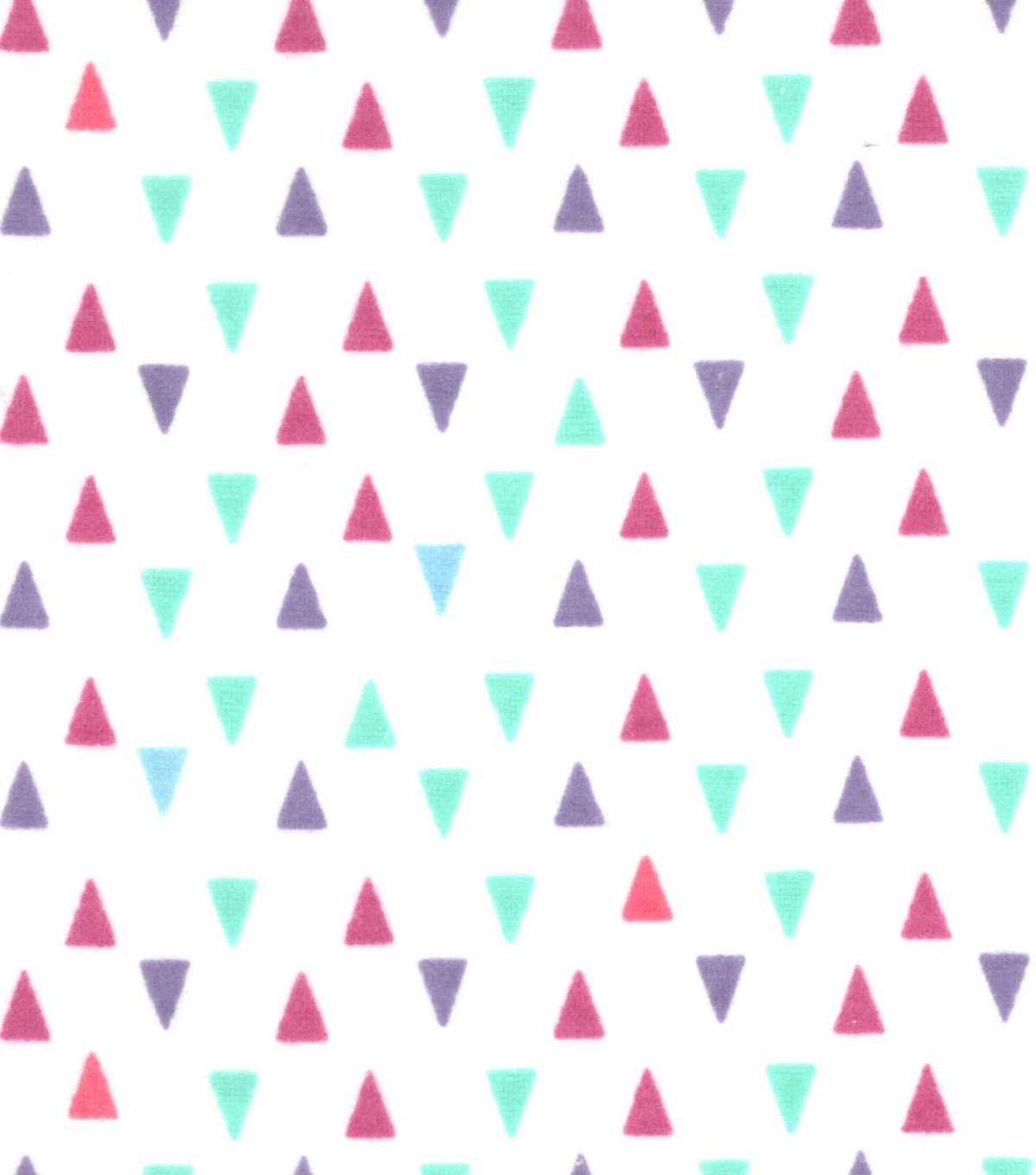 Snuggle Flannel Fabric 42\u0022-Gypsy Triangles On White