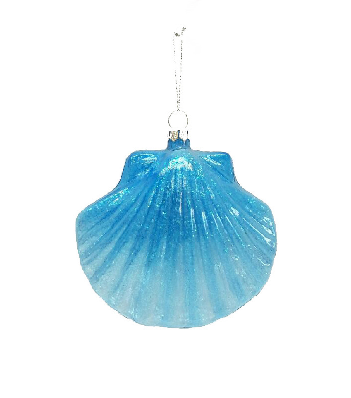 Maker's Holiday Christmas Shell Ornament-Blue