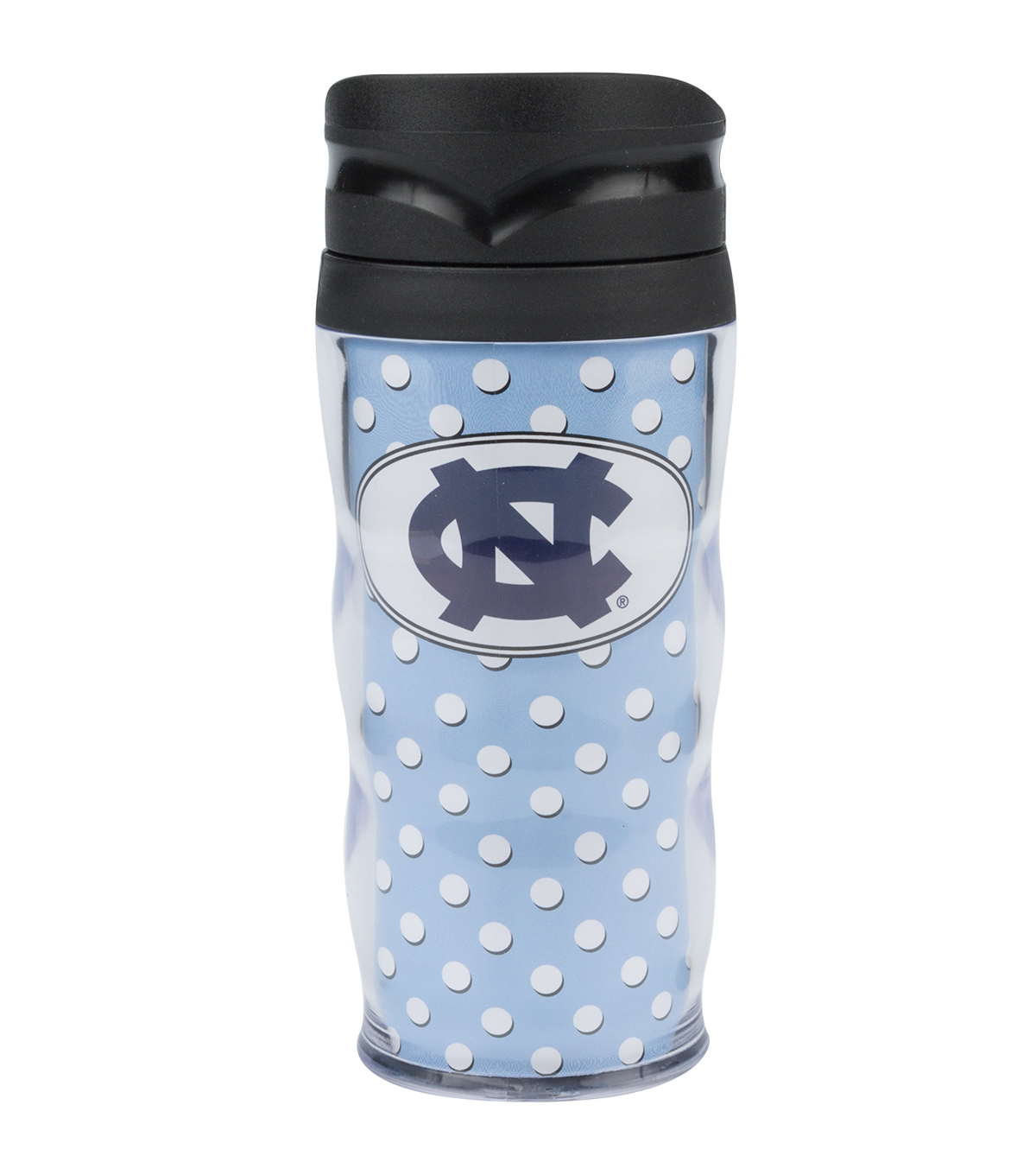 University of North Carolina Tarheels Polka Dot Travel Mug