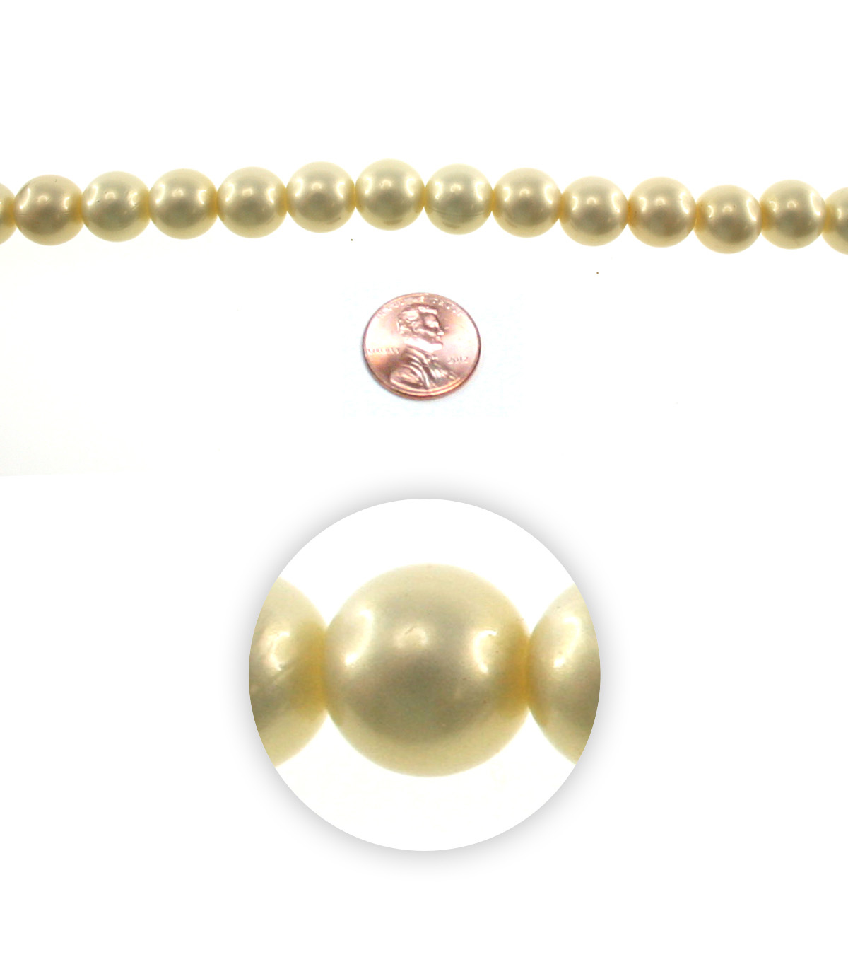 Advantus/Sulyn 7 in Prairie Pearlescent 12mm Bead Strand, Dusted Canary