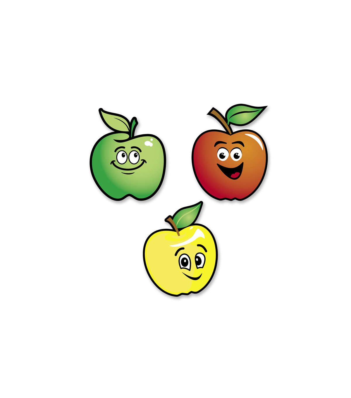 Busy Kids Learning \u0022Smelly\u0022 Sticker Packs-Smiling Apples
