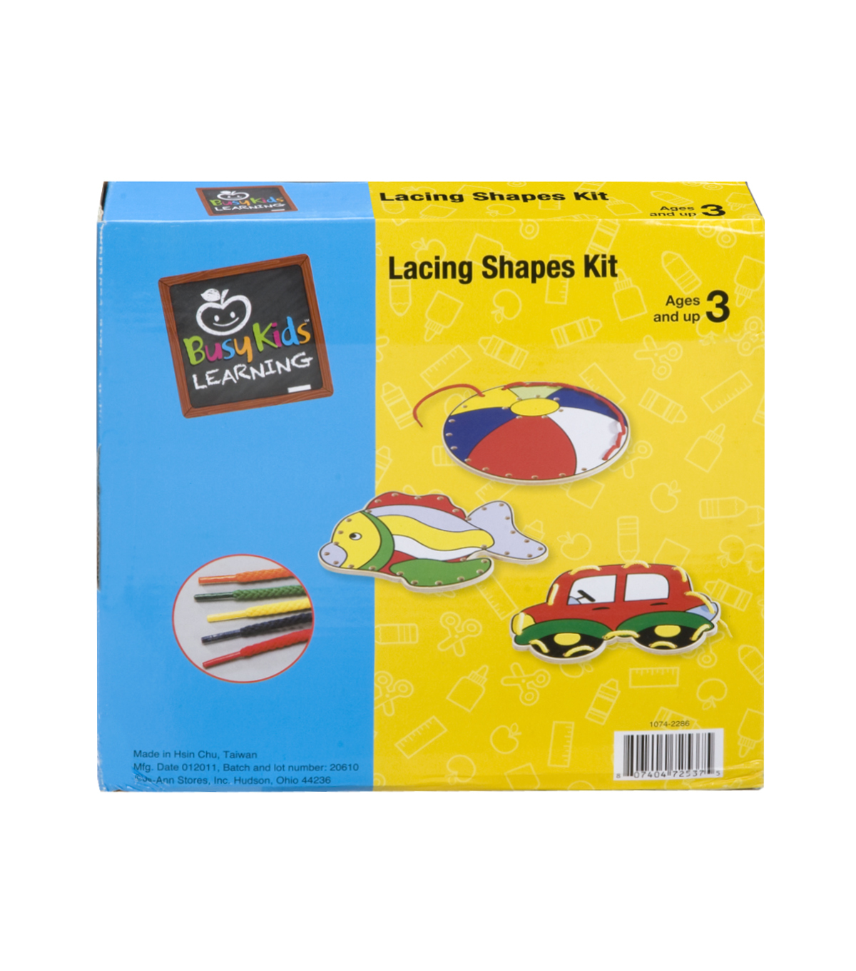 Busy Kids Learning Lacing Shapes Kit