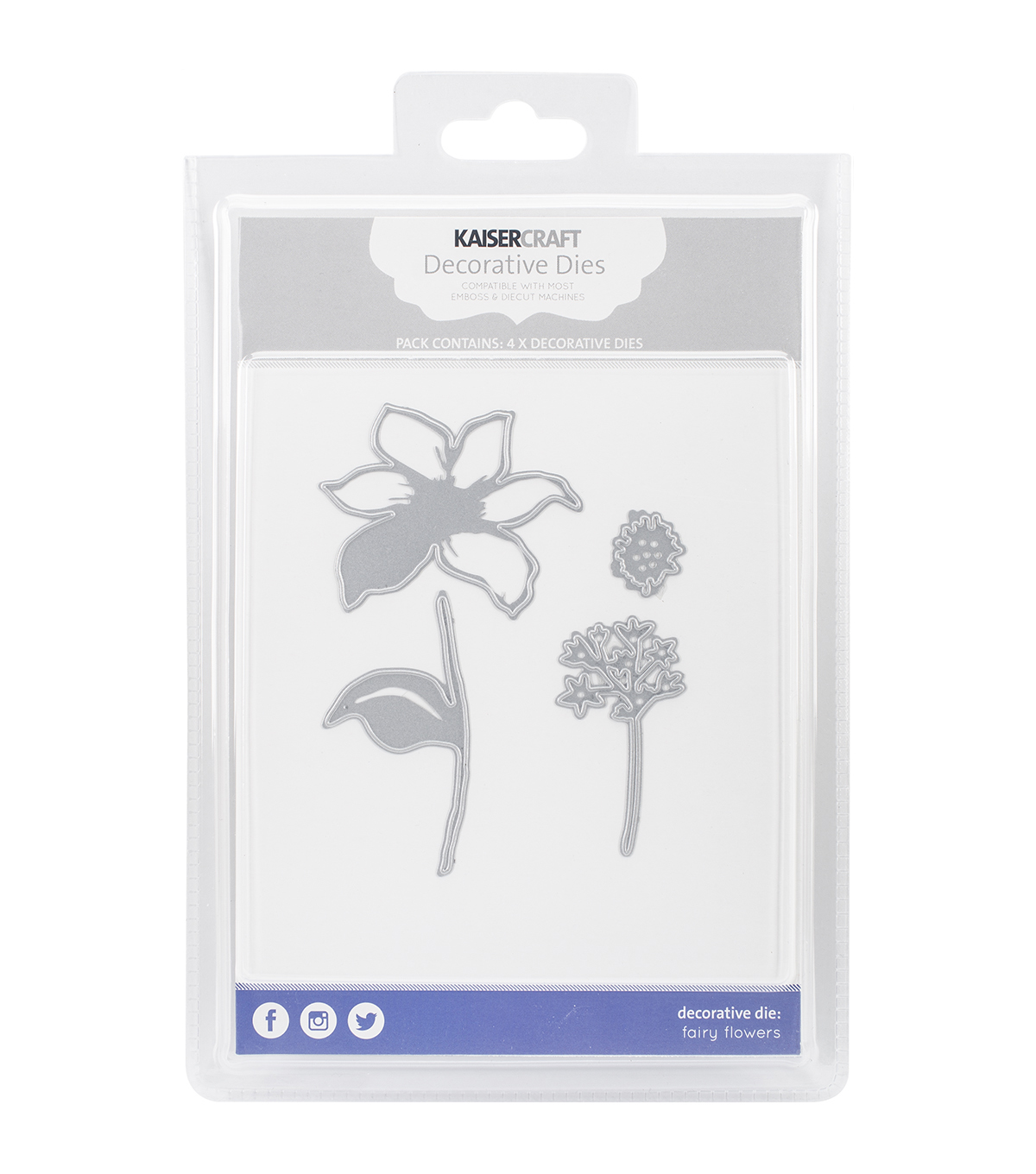 Kaisercraft Decorative Dies-Fairy Flowers