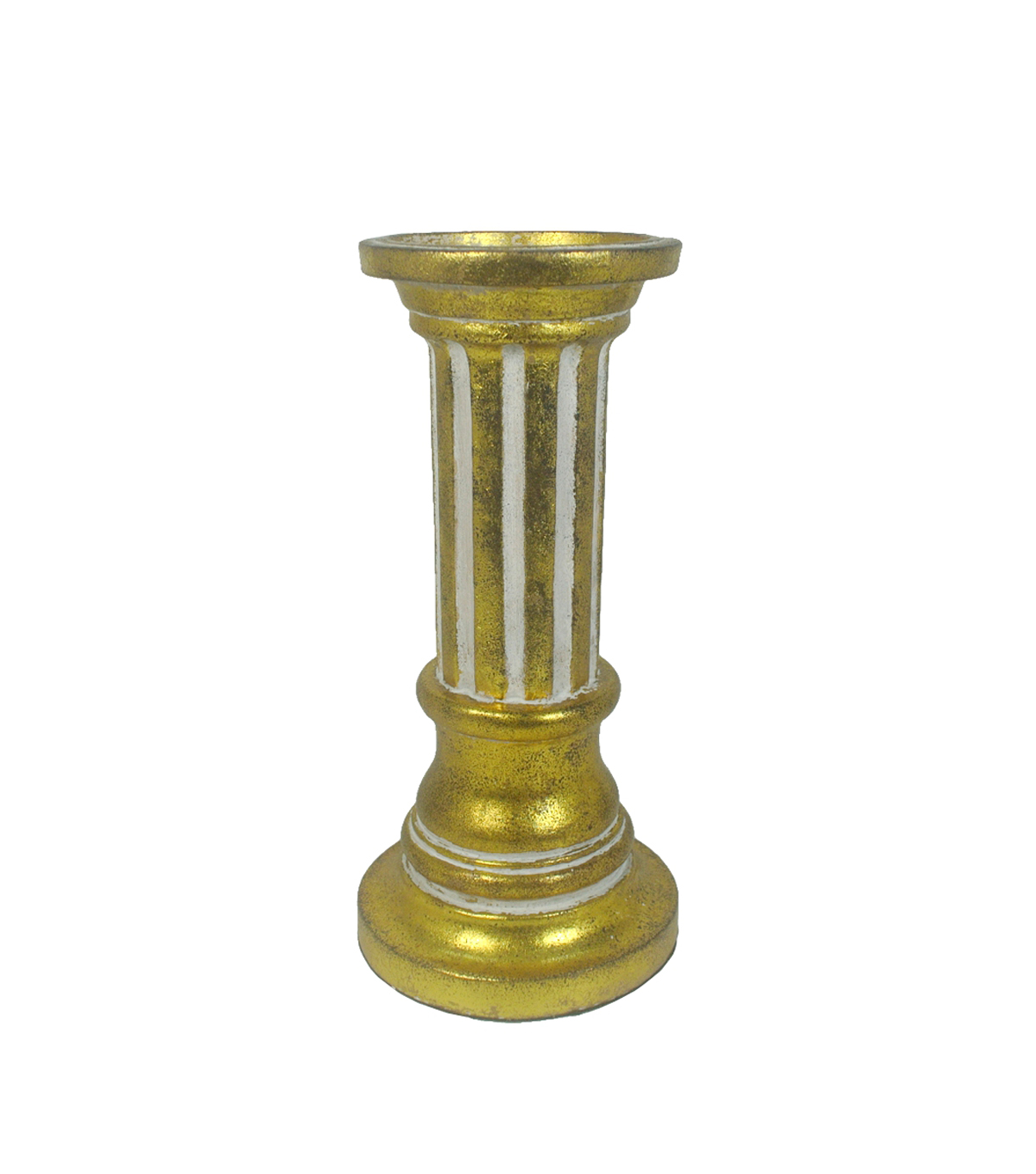 Hudson 43™ Candle & Light Collection Gold Poly Pillar Holder