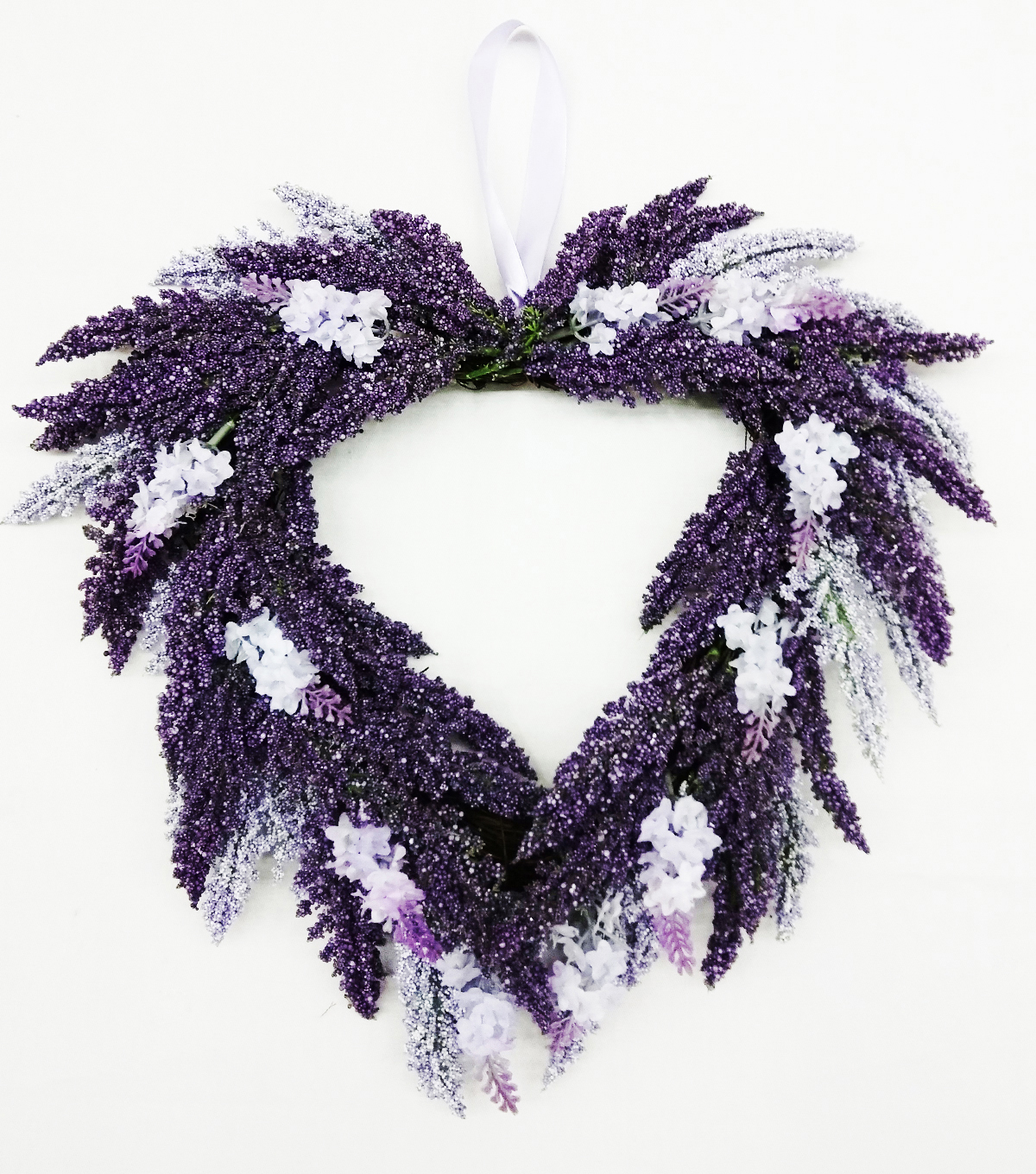 Fresh Picked Spring Lavender Heart Wreath