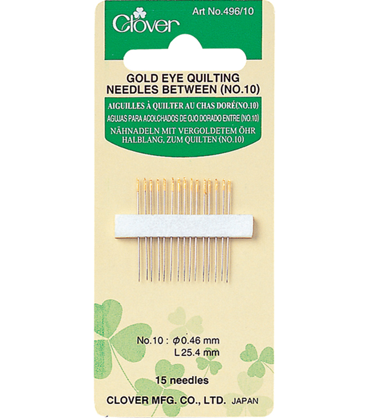 Clover® Gold Eye Quilting Needle