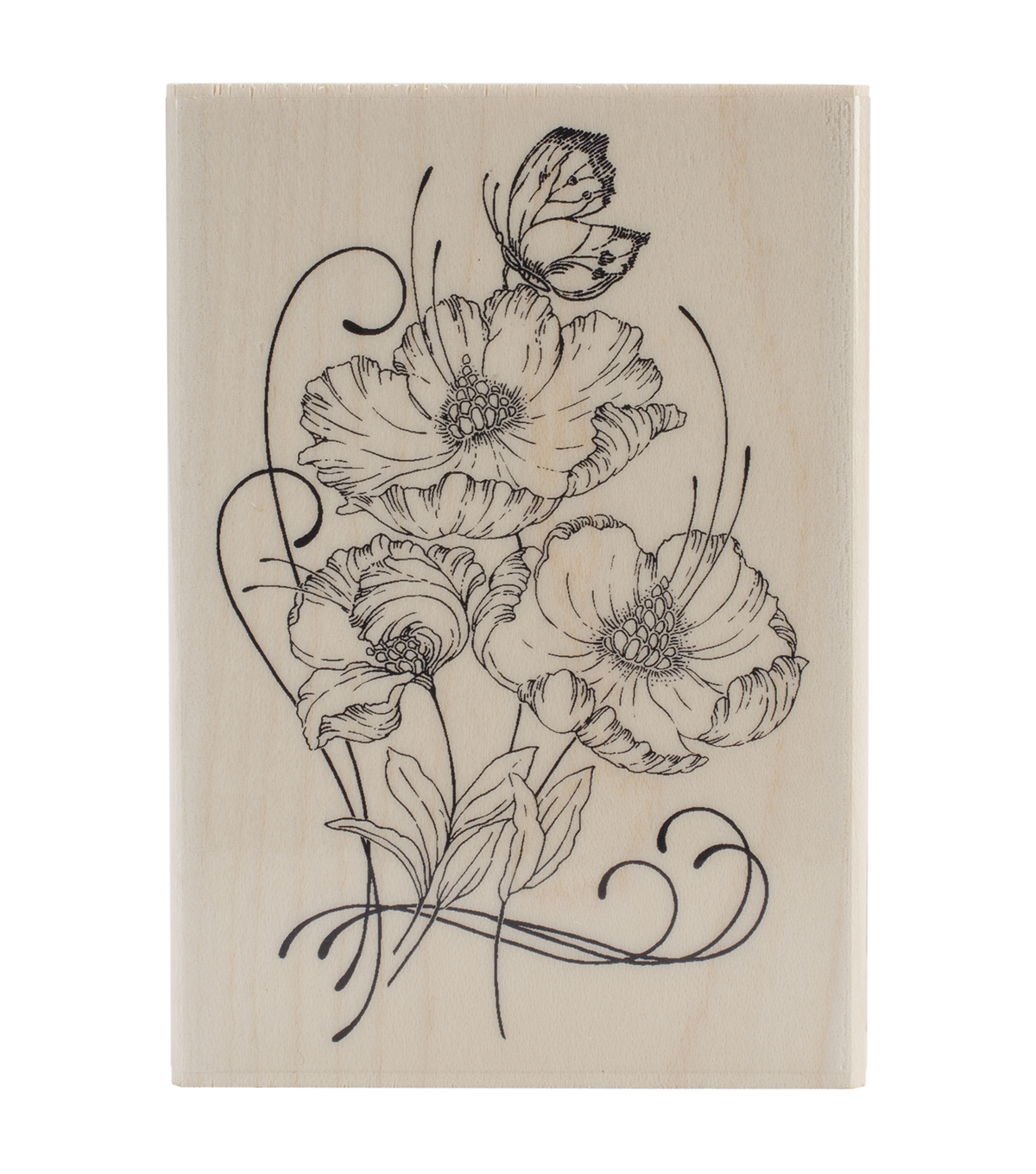 Penny Black Mounted Rubber Stamp 3\u0022X4.25\u0022-Red Tango