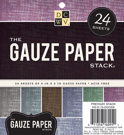 "DCWV 6""x6"" The Gauze Paper Stack"