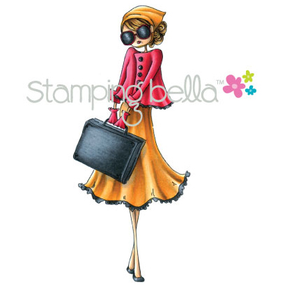 Stamping Bella Cling Rubber Stamp Uptown Girl Sunny Is Stylish
