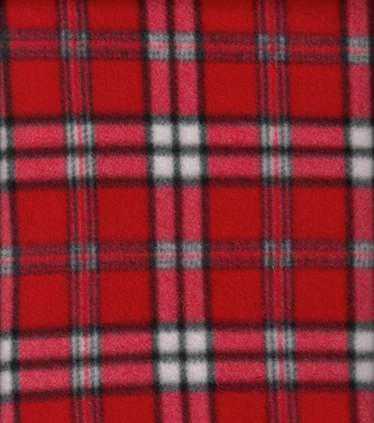 Blizzard Fleece Fabric 58''-Classic Red Plaid