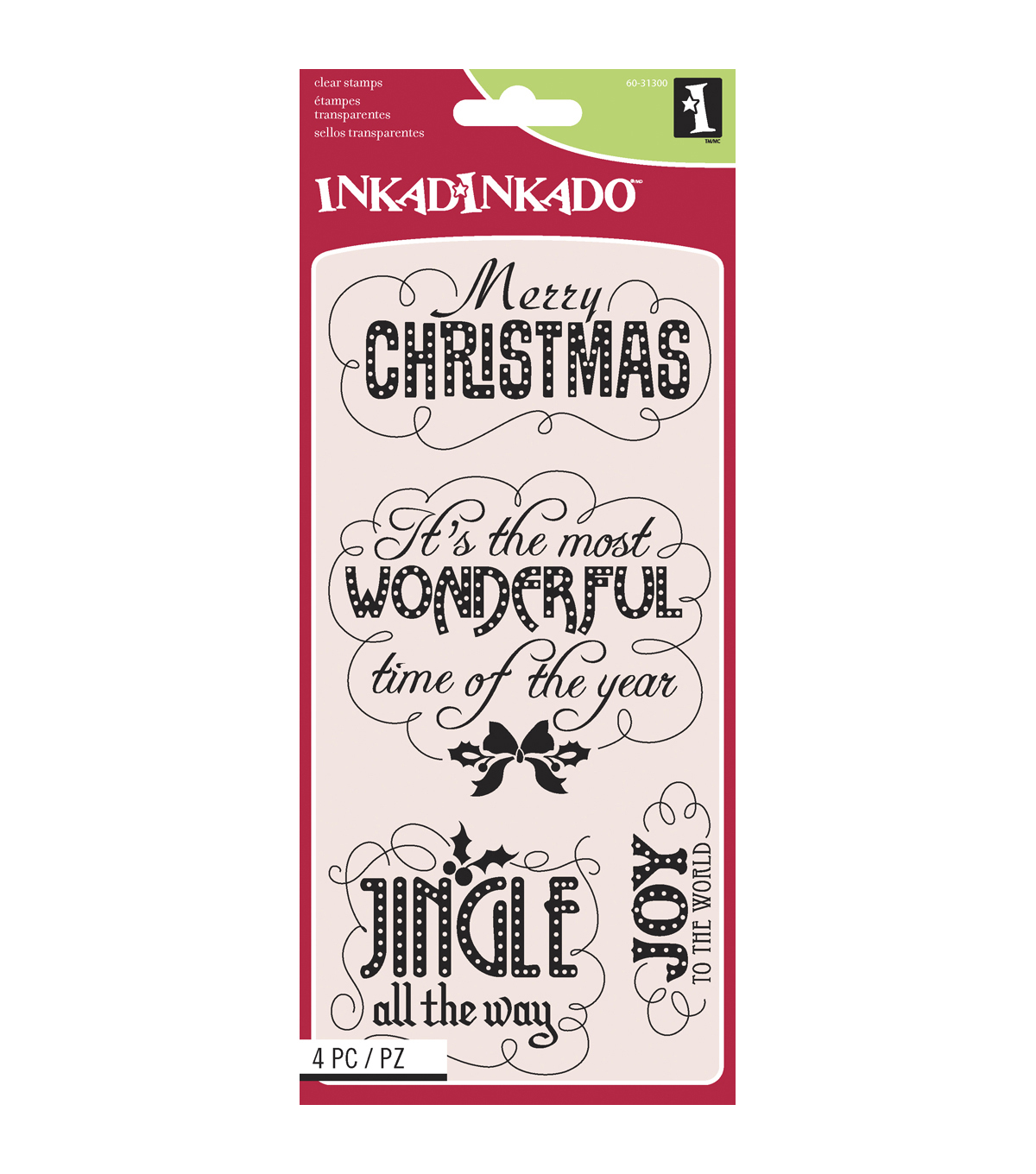 Inkadinkado® Clear Stamps-Marquee Christmas