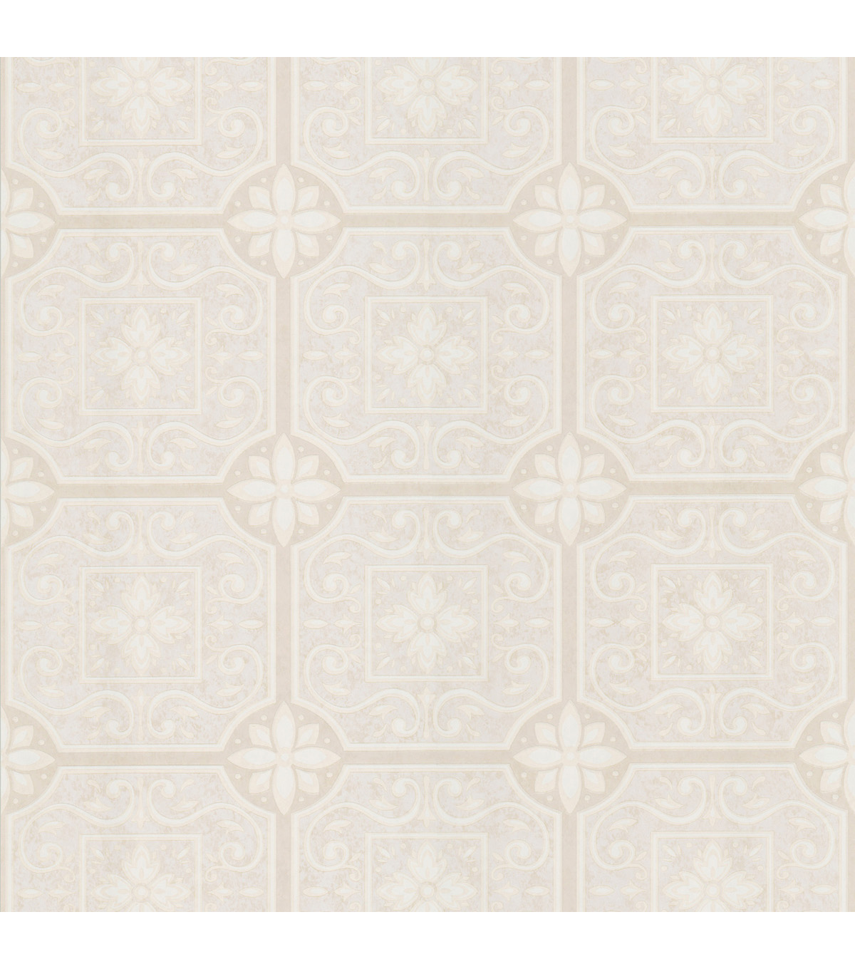 Victorianne Cream Tin Ceiling Tiles Wallpaper
