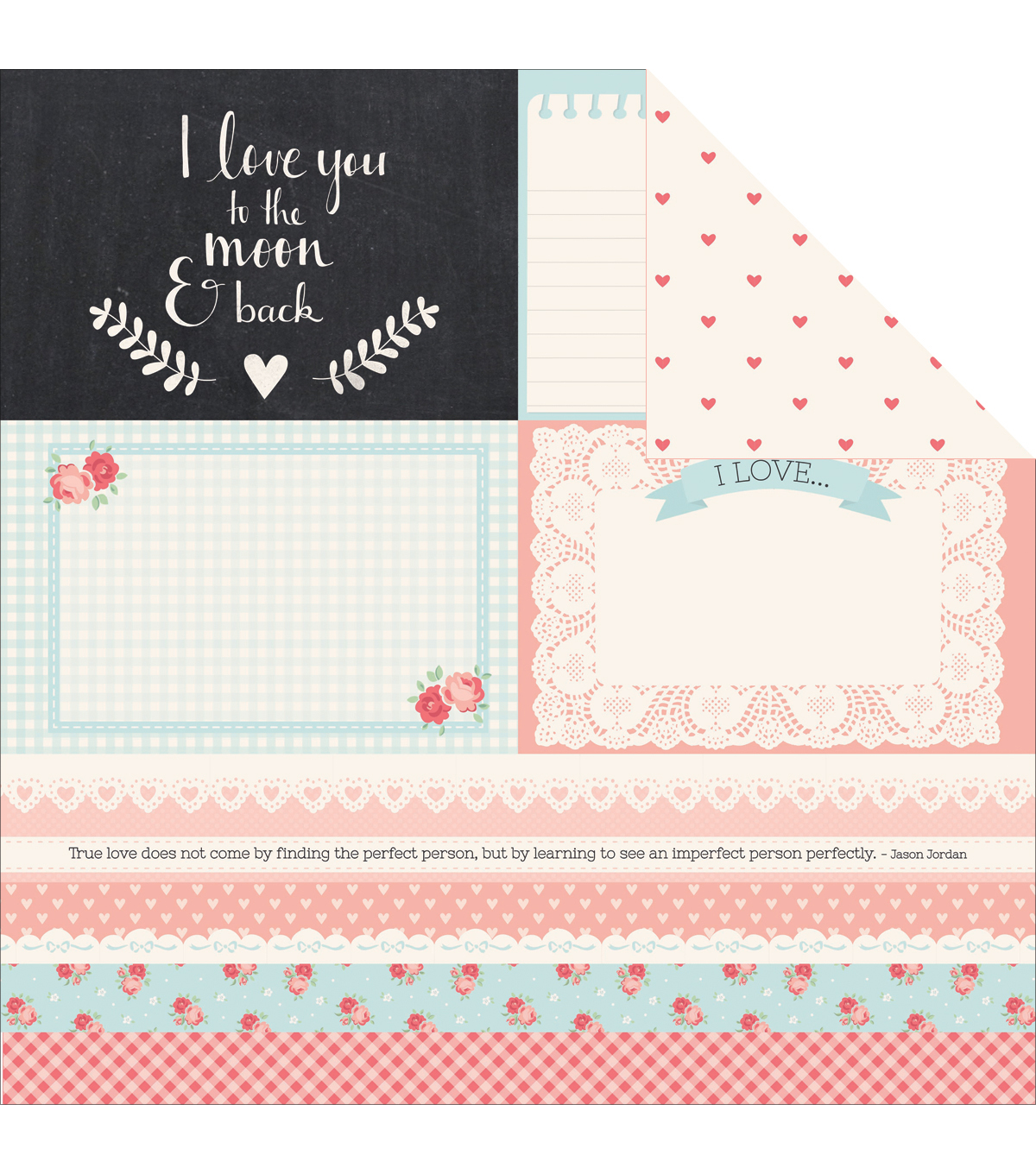 Kaisercraft XO Deeply Double-Sided Cardstock