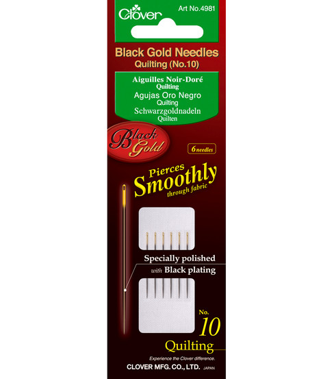 Black Gold Quilting Needles-Size 10 6/Pkg