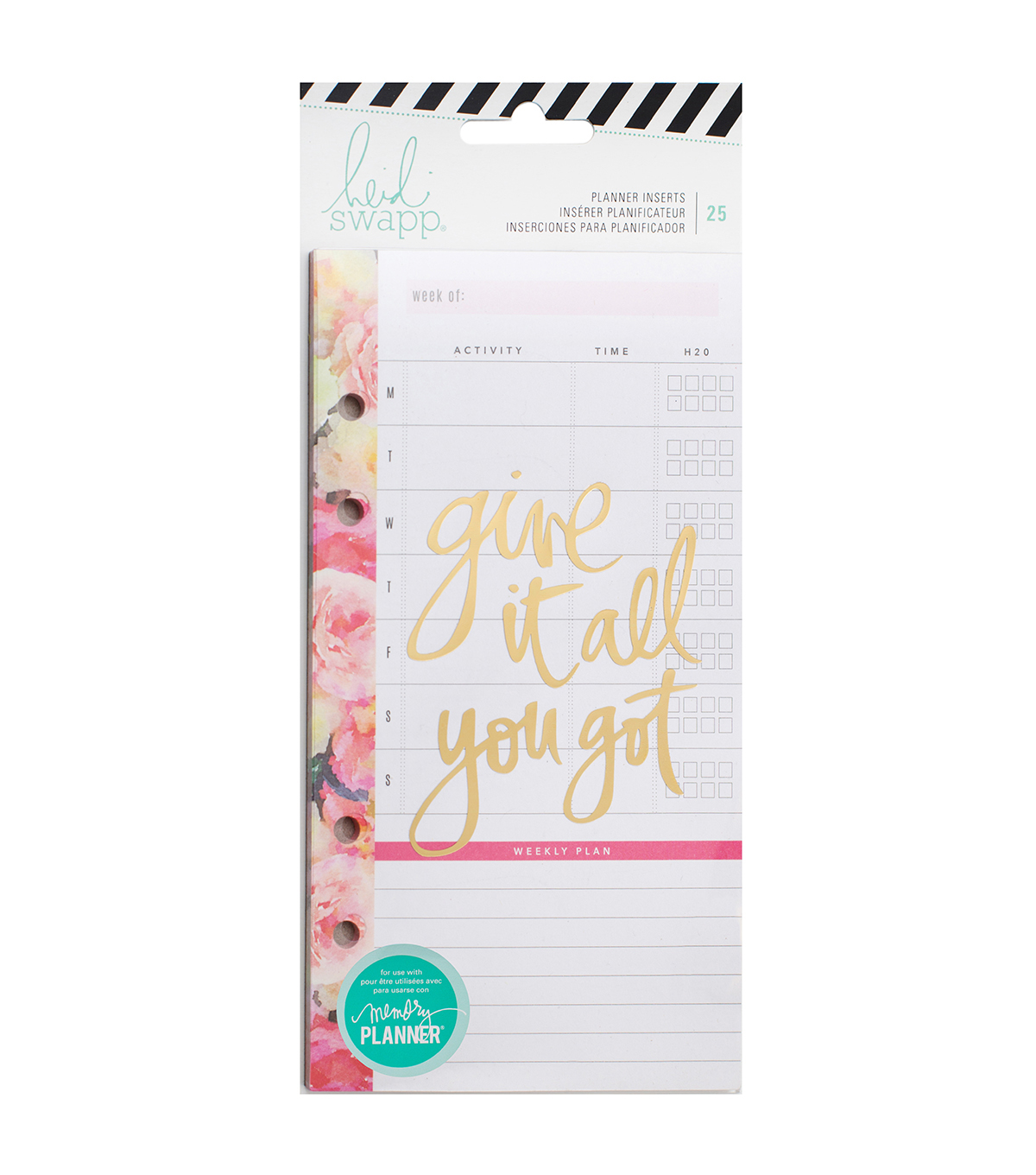 Heidi Swapp Memory Planner Pack of 25 Inserts-Meal & Exercise
