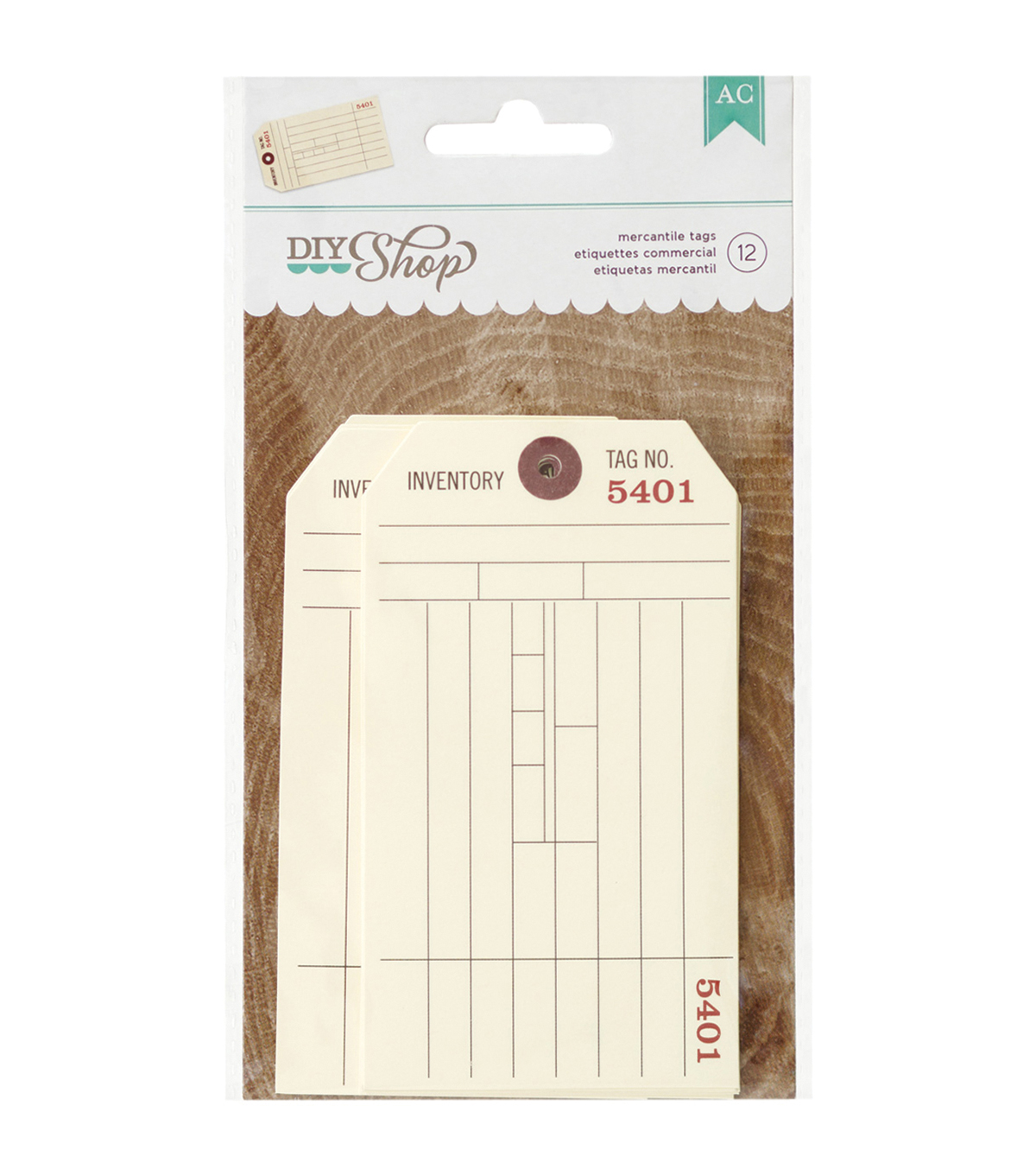 DIY Shop 2 Tags 12/Pkg-Mercantile