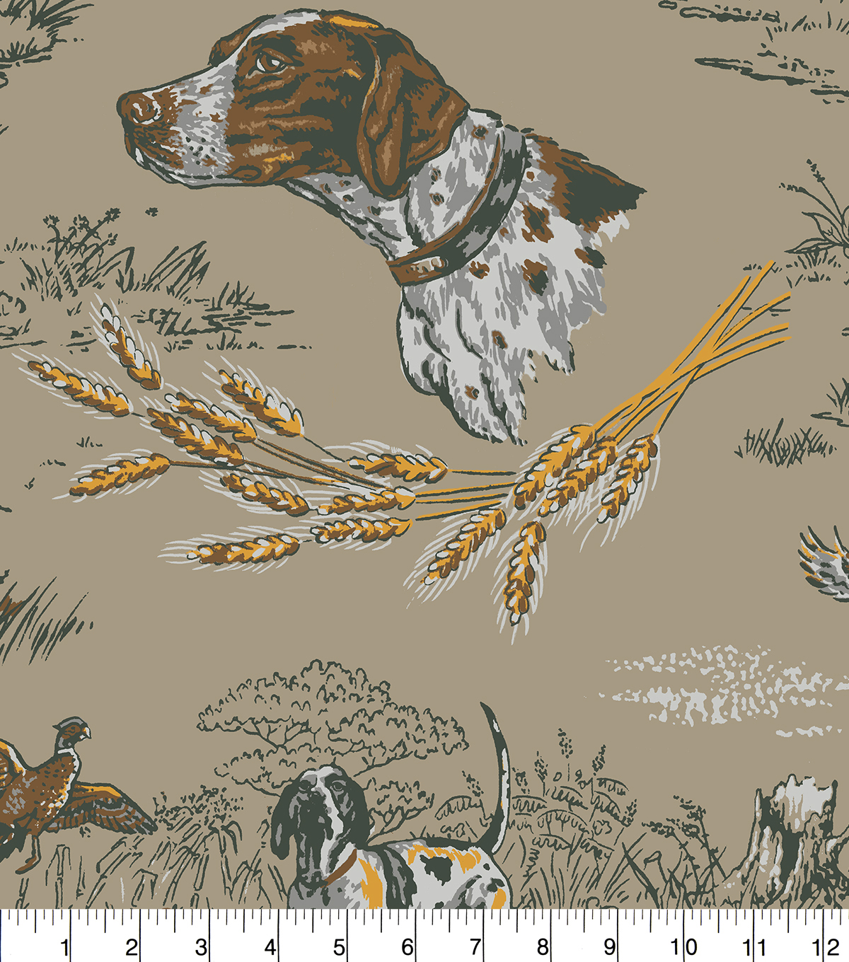 Anti-Pill Fleece Fabric 58\u0022-Hunting Bird Dogs