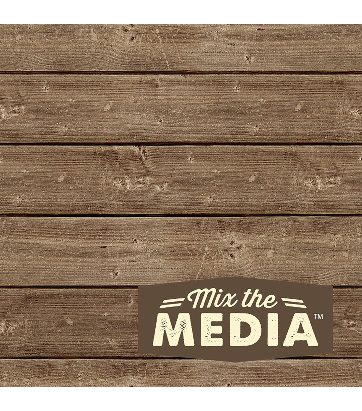 Jillibean Soup Mix The Media Wooden Plank-6\u0022X6\u0022 Dark
