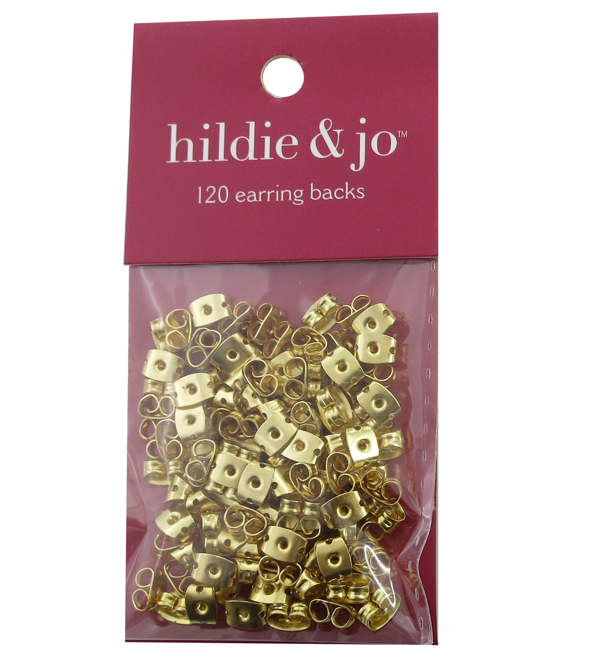 hildie & jo™ 120 Pack Earring Backs-Gold