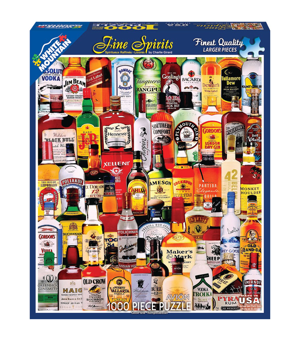 White Mountain Puzzles 1000 Pieces 24''x30'' Jigsaw Puzzle-Fine Spirits
