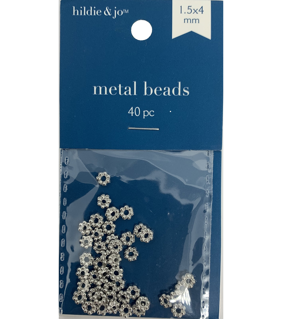 Blue Moon Beads Metal Bead 1.5x4mm, Spacer, Silver