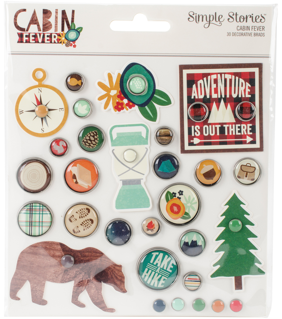 Cabin Fever Decorative Metal Brads & Tags