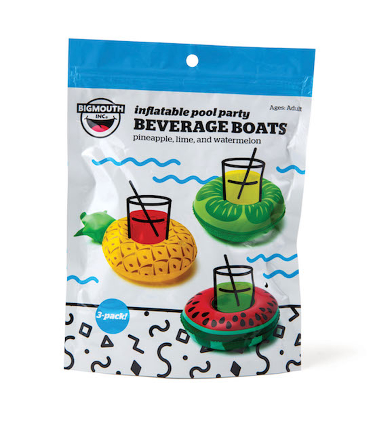 Pack of 3 Inflatable Beverage Float-Fruit