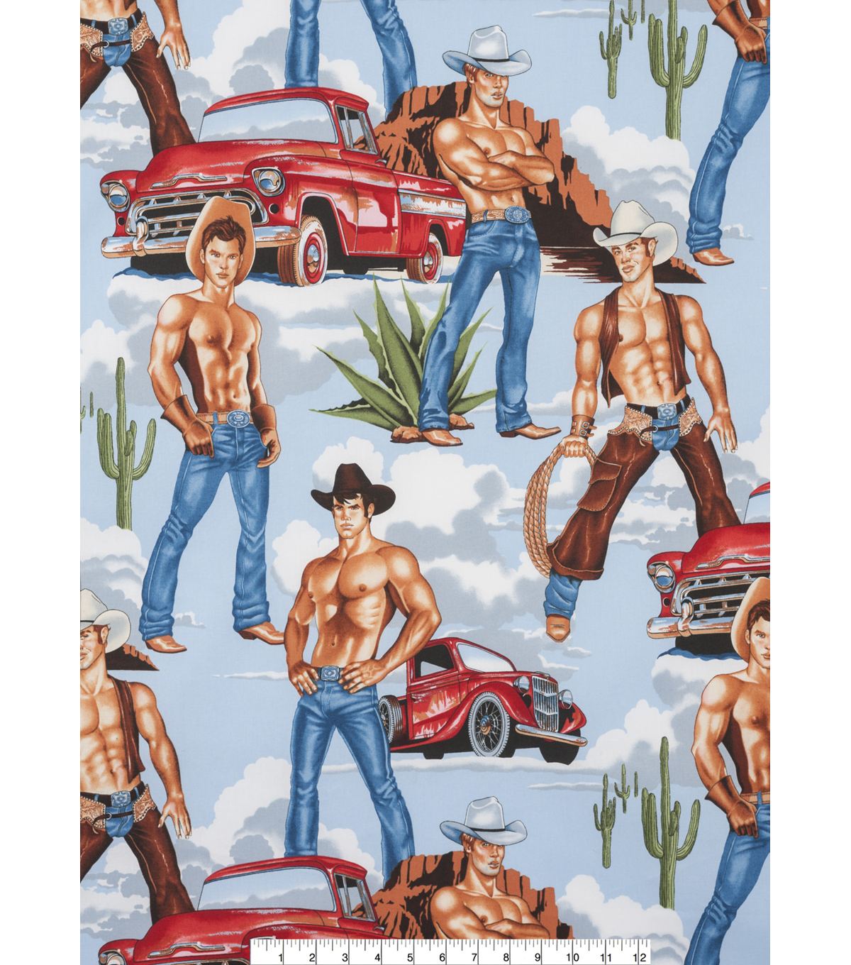 Novelty Cotton Fabric 45\u0022-Wrangler
