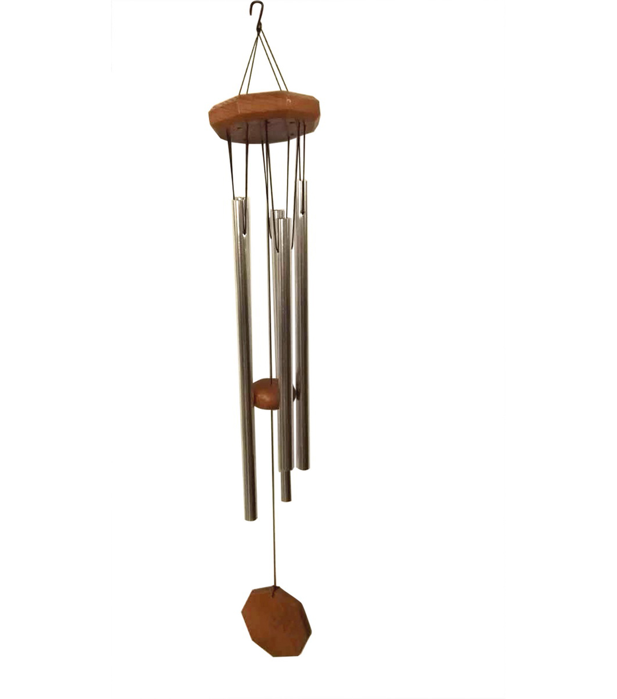 Wild Blooms Small Wood Top Wind Chime